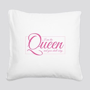 I am the Queen - Obey Square Canvas Pillow