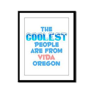 Coolest: Vida, OR Framed Panel Print