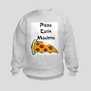 PIZZA EATING MACHINE Kids Sweatshirt