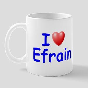 I Love Efrain (Blue) Mug