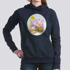 Cute Easter Duckling Chick and Spring Flowers Swea