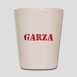 Garza Retro Stencil Design Shot Glass