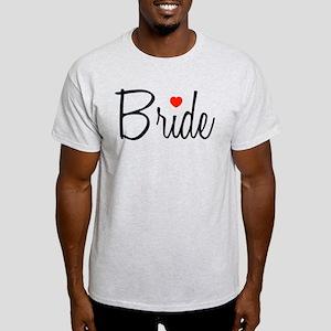 Bride (Black Script With Heart) Light T-Shirt