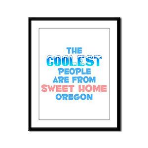Coolest: Sweet Home, OR Framed Panel Print