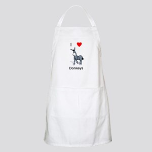 I love donkeys BBQ Apron
