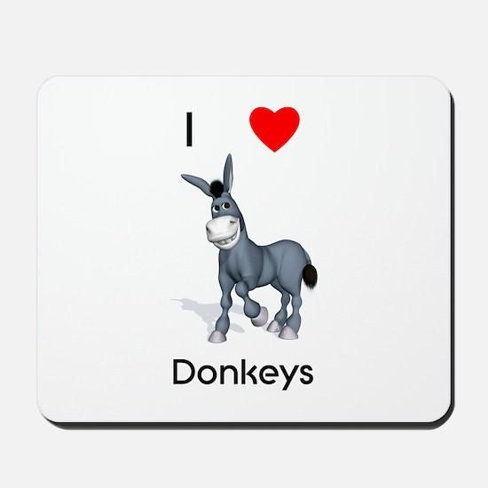 I love donkeys Mousepad