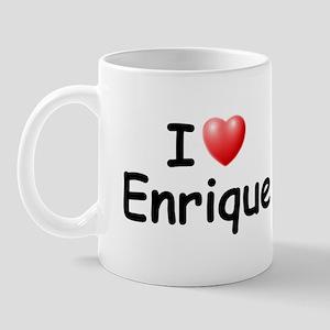I Love Enrique (Black) Mug