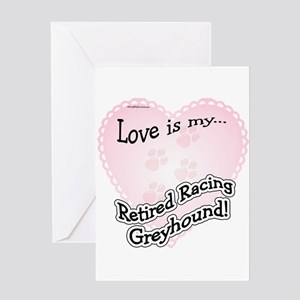 Retired Racers Love Is Greeting Card