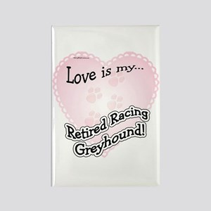 Retired Racers Love Is Rectangle Magnet
