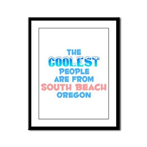 Coolest: South Beach, OR Framed Panel Print
