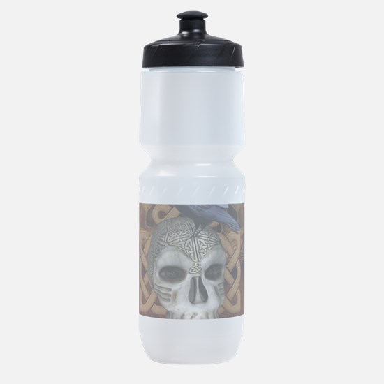 Awesome skkull with celtic knot and crow Sports Bo