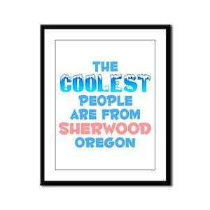 Coolest: Sherwood, OR Framed Panel Print