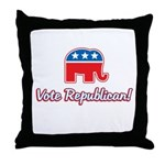 Vote Republican Throw Pillow