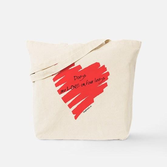 Dog Love on 4 Legs Tote Bag