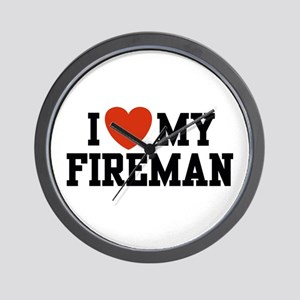 I Love my Fireman Wall Clock