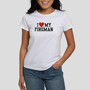 I Love my Fireman Women's T-Shirt