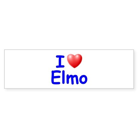I Love Elmo (Blue) Bumper Sticker