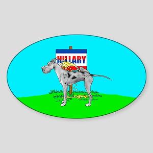 Merle Dane Pi$$ on Hillary Oval Sticker