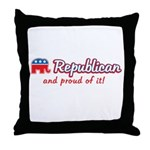 Republican and Proud Of It Throw Pillow