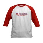 Republican and Proud Of It Kids Baseball Jersey