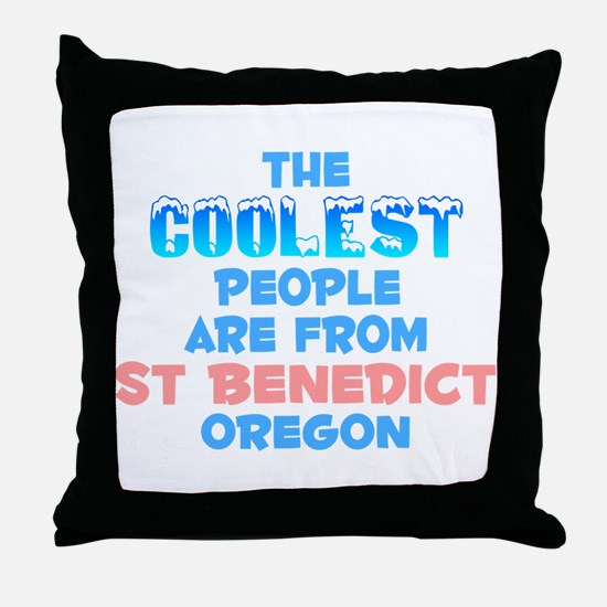 Coolest: St Benedict, OR Throw Pillow