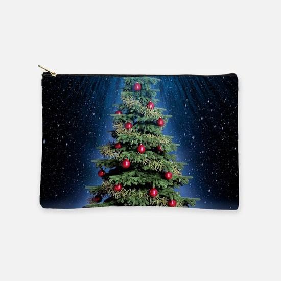 Beautiful Christmas Tree Makeup Bag