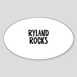 Ryland Rocks Oval Sticker