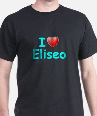 I Love Eliseo (Lt Blue) T-Shirt