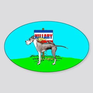 Mantle Dane Pi$$ on Hillary Oval Sticker