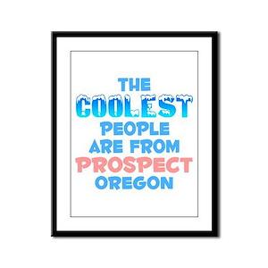 Coolest: Prospect, OR Framed Panel Print
