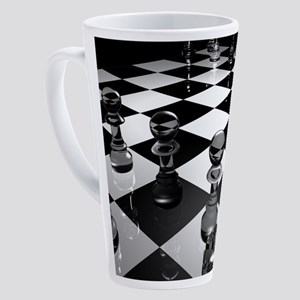 Chess Board 17 oz Latte Mug