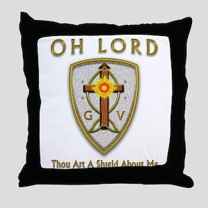 Christian Sun Shield Throw Pillow