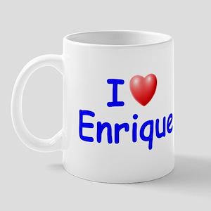 I Love Enrique (Blue) Mug