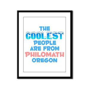 Coolest: Philomath, OR Framed Panel Print