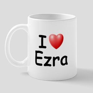 I Love Ezra (Black) Mug