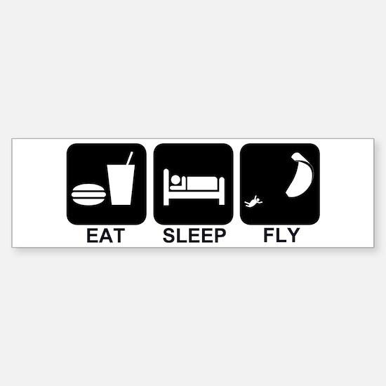 Paraglider Eat Sleep Fly Bumper Bumper Bumper Sticker