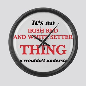 It's an Irish Red And White S Large Wall Clock