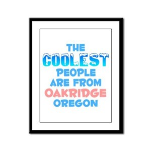 Coolest: Oakridge, OR Framed Panel Print