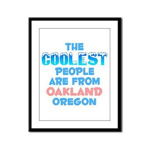 Coolest: Oakland, OR Framed Panel Print