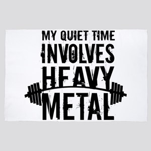 My Quiet Time Involves Heavy Metal 4' x 6' Rug