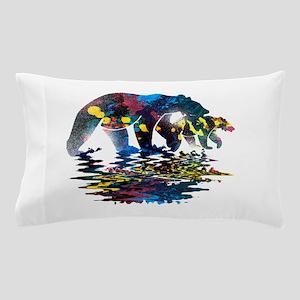 Bear Full Colour Paint Pillow Case