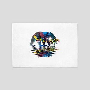 Bear Full Colour Paint 4' x 6' Rug