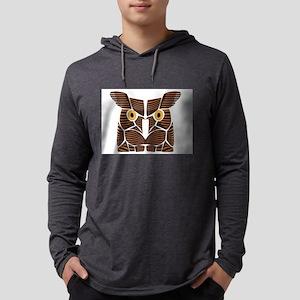 Owl Line Art Long Sleeve T-Shirt