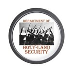 Holy-Land Security Wall Clock