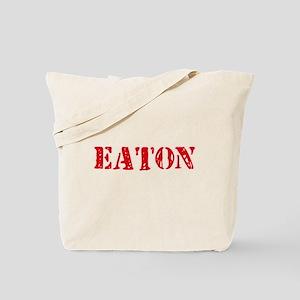Eaton Retro Stencil Design Tote Bag