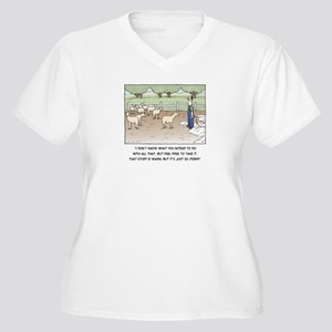 Sheep Women's Plus Size V-Neck T-Shirt