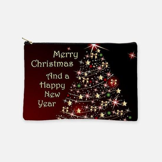 Christmas Tree And Wishes Makeup Bag
