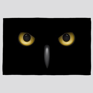 Owl Eyes Lurking In The Dark 4' x 6' Rug
