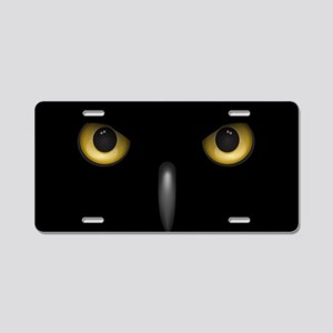 Owl Eyes Lurking In The Dar Aluminum License Plate