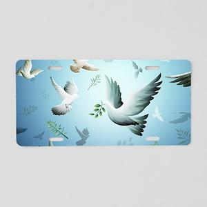 Beautiful Doves Aluminum License Plate